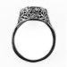 083bbr | Antique Filigree Ring | for a 3.45ct to 3.55ct round stone | Leafy Floral Design