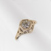 128fbbr | Pre-Set Antique Filigree Ring | .37ct. round diamond | Scrolls