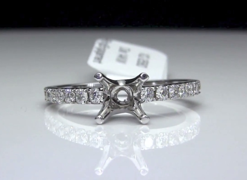 .39 ctw. Round Diamond Engagement Ring Setting / Semi-Mount