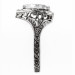 h001bbr   Antique Filigree Ring   for a 2.95ct to 3.03ct heart stone   Floral Band