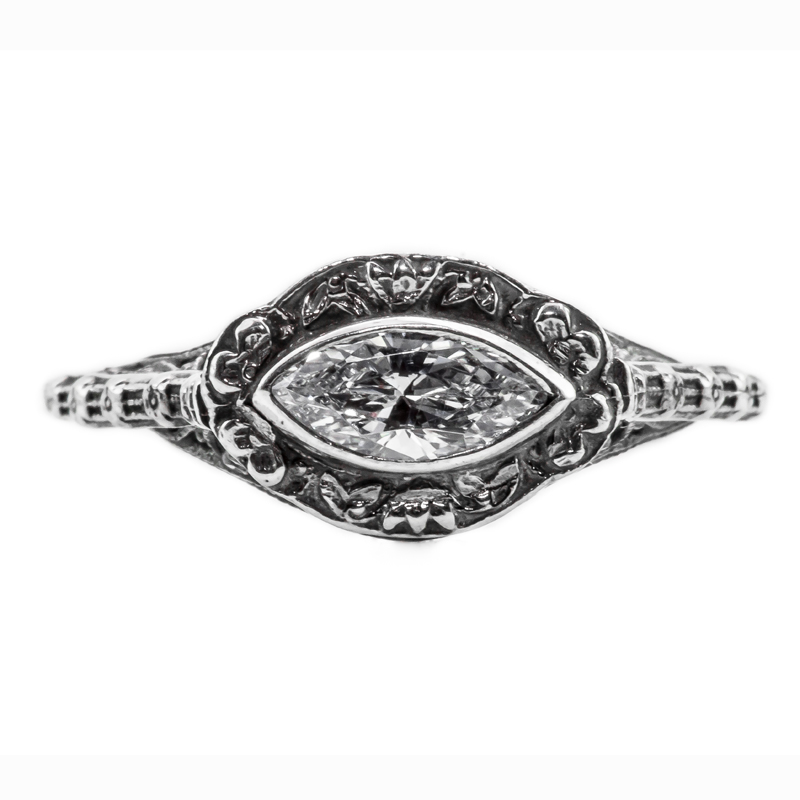 mq004bbr antique filigree ring for a 45ct to 55ct