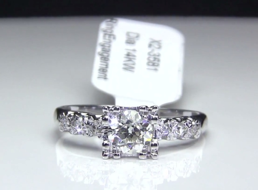 Old European Cut Diamond Vintage Engagement Ring