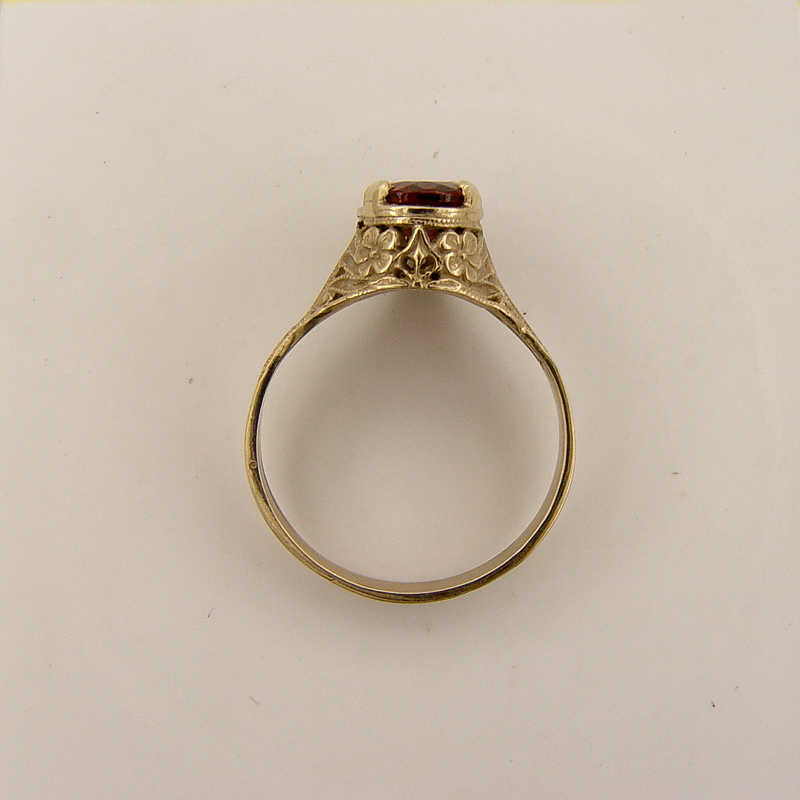 ov039bbr antique filigree ring for a 1 40ct to 1 50ct