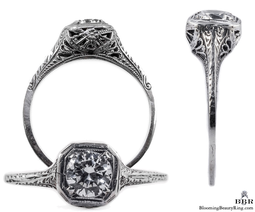 013bbr antique filigree engagement rings