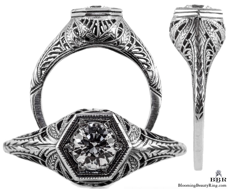 039bbr vintage filigree rings