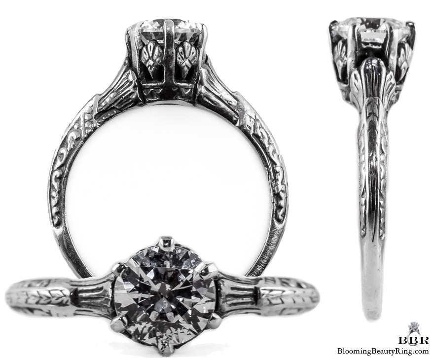 044bbr antique filigree engagement rings