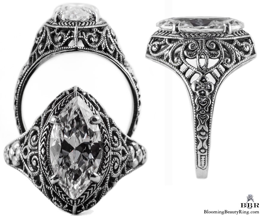 m005bbr antique filigree engagement rings