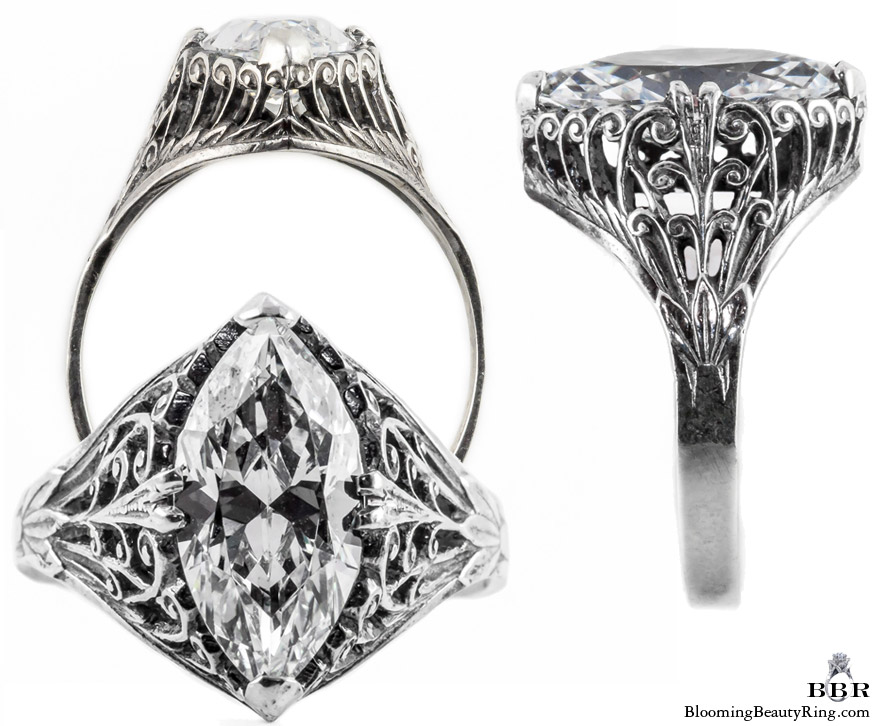 m006bbr antique filigree engagement rings