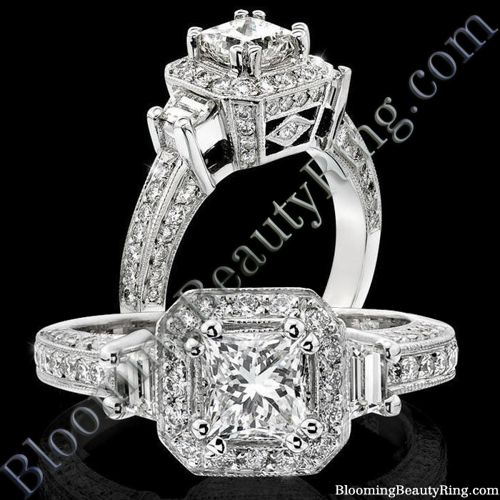 Three Stone Engagement Rings - Past Present Future Rings