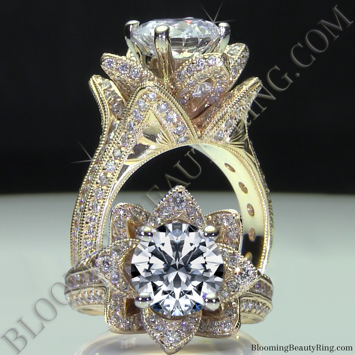 A Very Unique Flower Diamond Engagement Ring