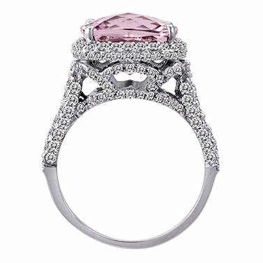 Kunzite Diamond Ring by Jacqueline