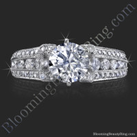 5 Sided 10 Column Engagement Ring