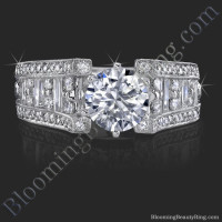 6 Prong Tiffany Style Engagement Ring