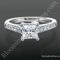 Bridge and Crossover U Prong Engagement Ring