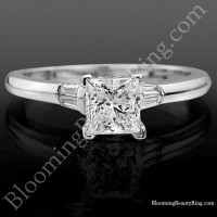 Cathedral Bezel Set Engagement Ring with Peekaboo Diamonds