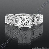 Pave Wide Diamond Band with Intricate Milgrain Edging