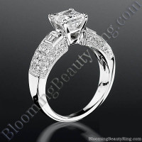 Pave Wide Diamond Band with Intricate Milgrain Edging and Design