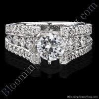 Diamonds On The Tips Modified 6 Prong Cathedral Split Band Princess Cut Engagement Ring