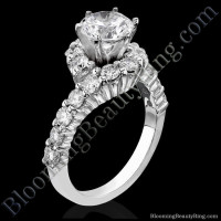 Perfectly Designed Twist and Endless Loop Diamond Setting with 6 Secure Prongs