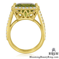 Apple Green Peridot Gemstone Ring