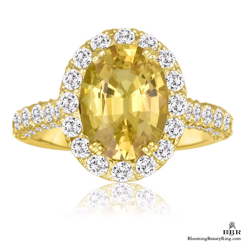very fine oval cut yellow sapphire and diamond engagement ring jtr187 unique engagement. Black Bedroom Furniture Sets. Home Design Ideas