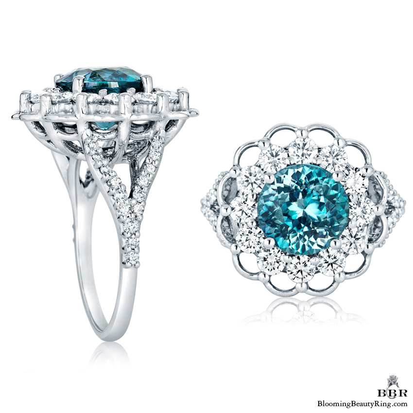 and rings zircon engagement top diamond custom blue ring