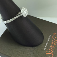 Simon G Princess and Rounded Trillion Cluster Ring
