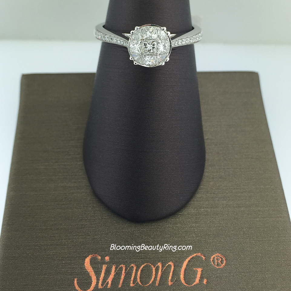 Simon G Princess and Rounded Trillion Cluster Ring - MR2022