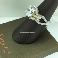Simon G Reminisce Triple Loop Engagement Ring
