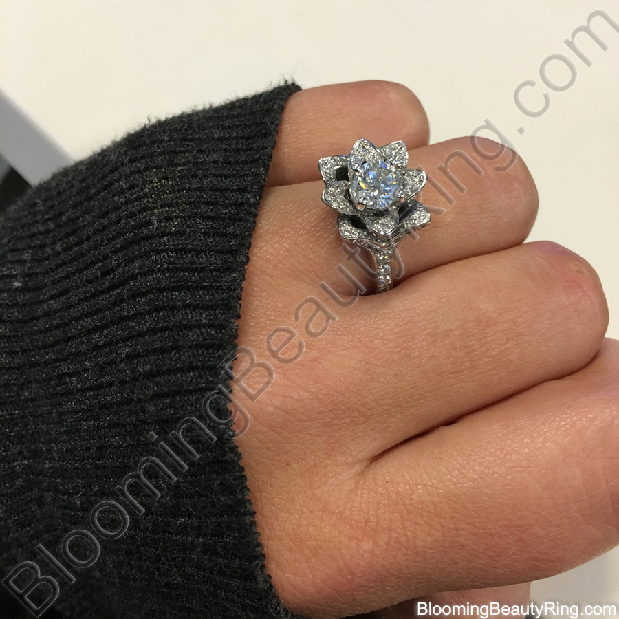 aquamarine ring rings home engagement diamond and lotus product collection flower