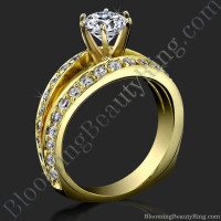 A Full Split Shank Slightly Soft Cornered Diamond Engagement Ring