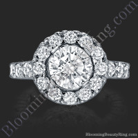 Diamonds and Flowing Lace Engagement Ring 2