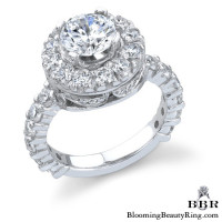 Diamonds and Flowing Lace Engagement Ring 3