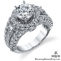 Spellbound - Enchanting Diamond Halo Engagement Ring 3