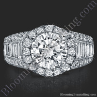 The Majestic Halo Diamond Engagement Ring 2