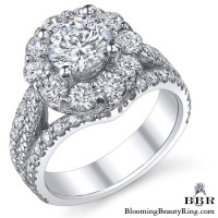 The Rising Diamond - Split Halo - Engagement Ring 3