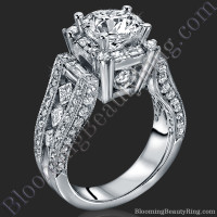 The Royal Throne Diamond Engagement Ring 1