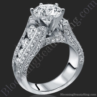 The High Class Escalating Split Shank Diamond Engagement Ring 2