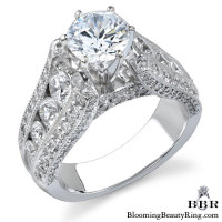 The High Class Escalating Split Shank Diamond Engagement Ring - 3