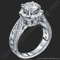 She Will Say Yes! Unique Round Diamond Engagement Ring - 1