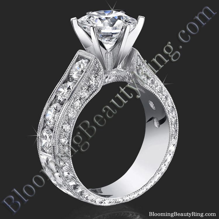 Spectacular 420 Ctw Top Quality Round Diamond Engagement Ring Set Bbr389set