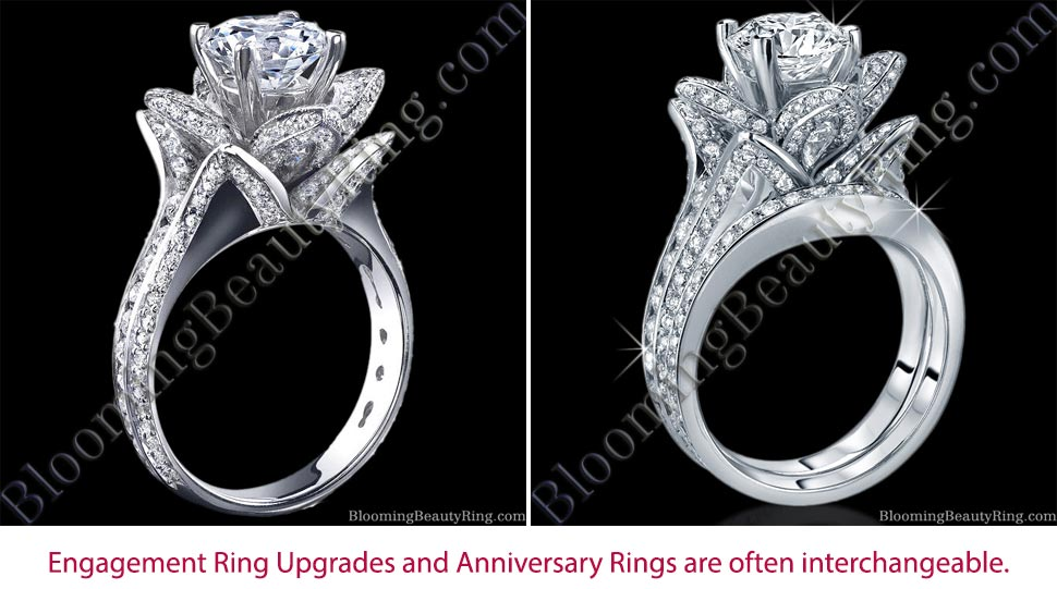 Engagement Ring Upgrade or Anniversary Ring Unique Engagement