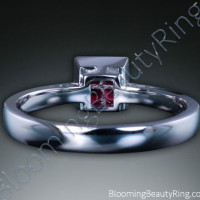 .33 ctw. 18K Gold Invisible Set Ruby Tapered Ring - 3
