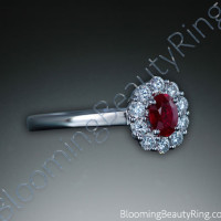 .60 ctw. Fine Oval Ruby and Diamond Ring - 2
