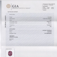 Gia Gemstone Report