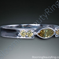.40 ctw. Marquise Fancy Yellow Diamond Ring - 2
