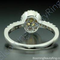 .85 ctw. Multi Prong Oval Yellow Sapphire and Diamond Ring - 3