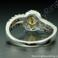 1.26 ctw. Oval Yellow Sapphire and Diamond Wave Ring - 3