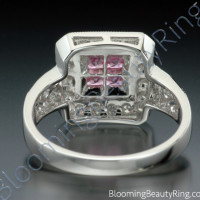 .65 ctw. Invisible Set Pink Sapphire and Diamond Ring - 2