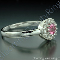 .60 ctw. Pink Sapphire and Diamond Raised Ring - 3